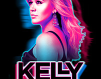 Kelly Clarkson - Neon Raster T-shirt