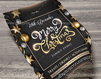 Family Christmas Event – Flyer PSD Template + Instagram