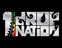 """1 Drop Nation"" band logo design"