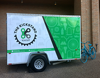 The Kickstand - Bike Shop Trailer Wrap Design