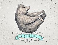 Yoga bear! Morning!