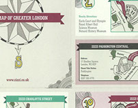 Map of London for Zizzi