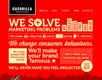 Guerrilla Advertising Design Website