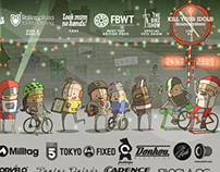 Vulpine Christmas Cycling Fete Poster