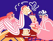 My great older friend – Illustration for Missy Magazine