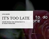 Letra canción original cortometraje IP-IS