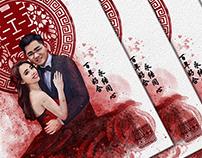 Graphic///Digital Art. Wedding Illustration 001