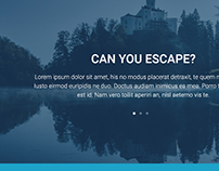 Escape room Mockup - landing page