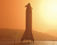 SpaceX Starship on Mars