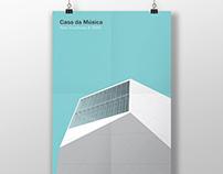 Architectural poster #32. Casa da Musica.