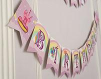 """Enfy"" Unicorn Birthday Decorations Set"