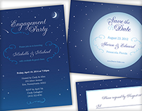 Starry Night Wedding Stationary