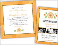 Bold & Bright Wedding Stationary