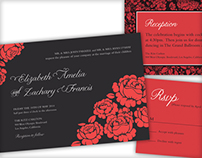 Red Roses Wedding Stationary