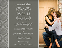 Sophisticated Gray Wedding Stationary