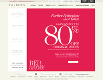 TALBOTS | Sale Homepage & Web Graphics