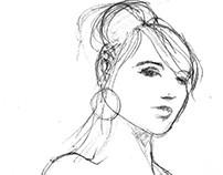 Evolution of 1 minute sketch into finished illustration