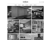 S p a c e website design
