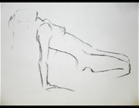 Gesture Charcoal Drawings