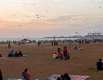 Enjoying Galle Face Sri Lanka
