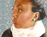 Painting Kathleen.