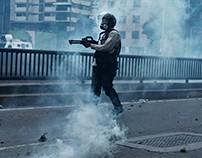Manifestación reprimida en la av. Libertador 8 de abril