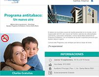 Diseño Mailing- Charlas gratuitas @ Clinica Santa María