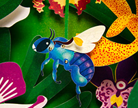 Orchid Bees - Tunnel Book