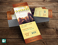 Gospel Concert Ticket Publisher Template