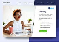 Freelancer - Portfolio Personal Page PSD Template