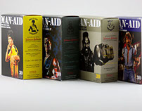 Man-aid bandaid parody packaging