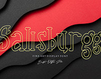 Free Sallsburgg Display Font