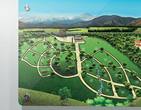 Valle de Auco Park Cemetery Illustrated Map