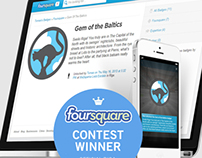 Riga City Foursquare badge | Competition Winner