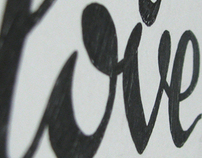 For my love Lettering poster
