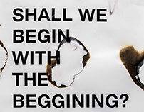 Shall We Begin with the Beginning?