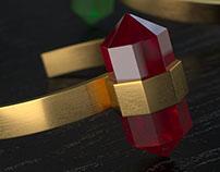 Hexa Gemstone Ring