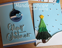 Paper quilling christmas card