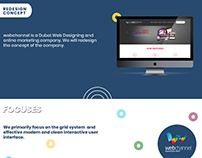 Webchannel.ae - Redesign Website Concept