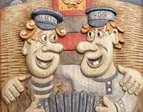 """""""Два гармониста"""" / """"Two accordionists"""" I Панно"""