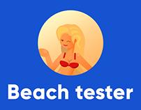 Beach tester