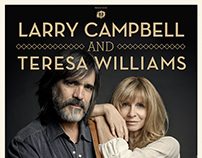 Larry Campbell & Teresa Williams - Concert Poster