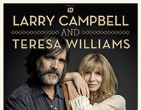 Larry Campbell & Teresa Williams - Concert Poster