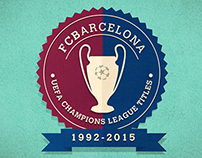 FCBarcelona UEFA Champions League Titles