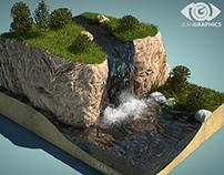 Diorama Naturaleza 3D