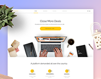 Online Store Landing with free project file