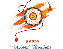 Raksha Bandhan vector template
