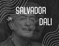 Landing page about Salvador Dali