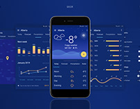 Weather UI/UX app design