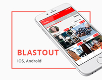 BlastOut App for iOS and Android - social connector
